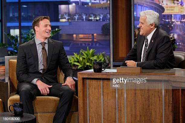 Episode 4300 -- Pictured: Olympic swimmer Ryan Lochte during an interview with host Jay Leno on August 16, 2012 --