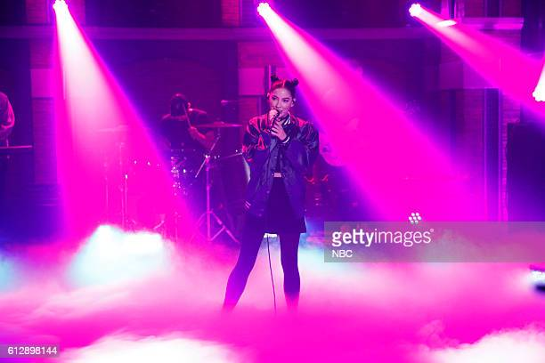 Musical guest Bishop Briggs performs on October 5 2016
