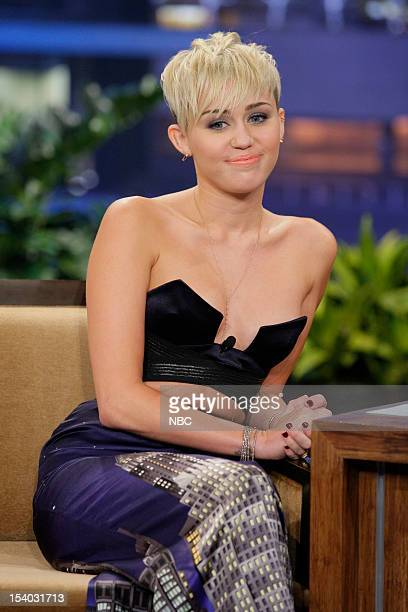 Episode 4335 -- Pictured: Miley Cyrus during an interview on October 12, 2012 --