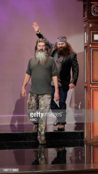 Willie and Phil Robertson arrive on November 19 2012