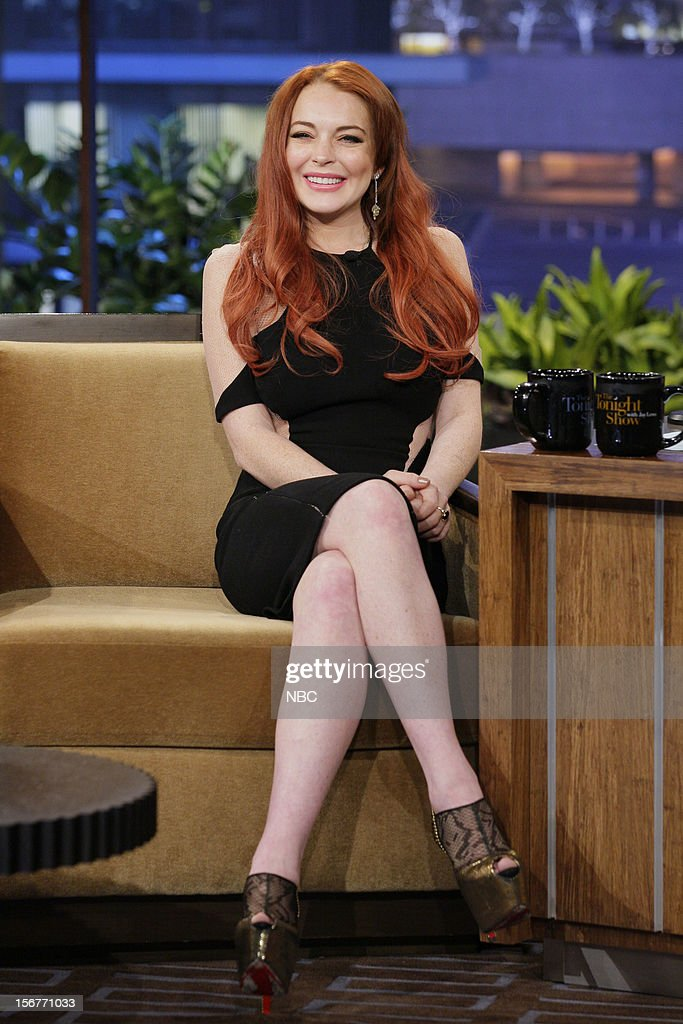 Actress Lindsay Lohan during an interview on November 20, 2012 --