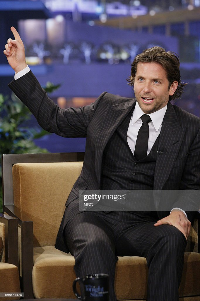 Actor Bradley Cooper during an interview on November 22, 2012 --