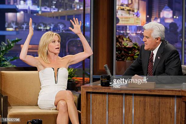 Actress Julie Bowen during an interview with host Jay Leno on November 27 2012