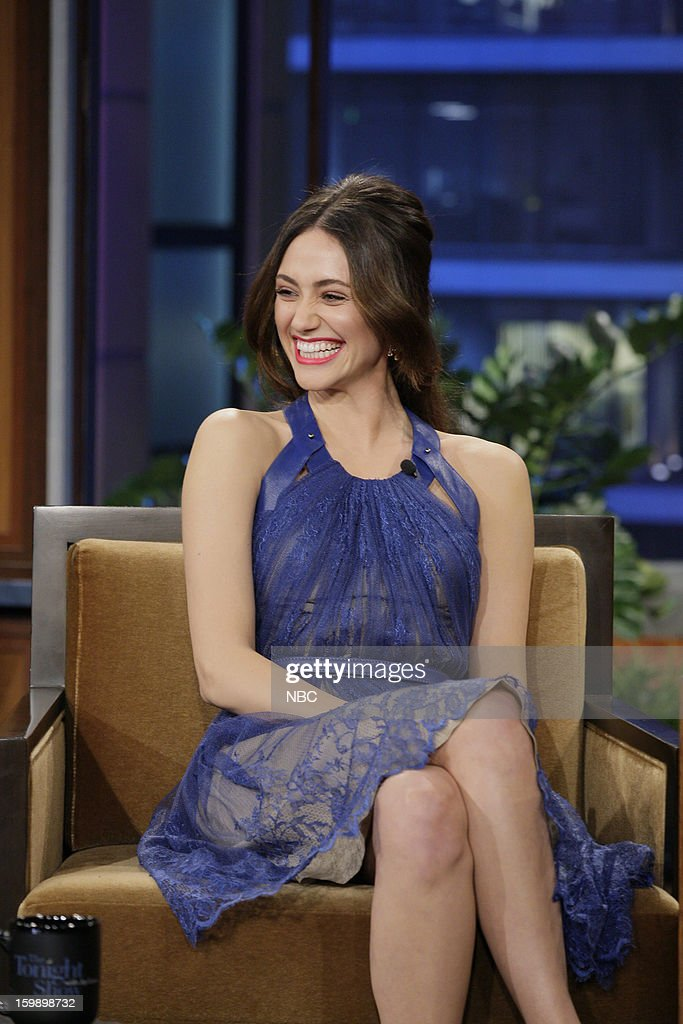Actress Emmy Rossum during an interview on January 22, 2013 --