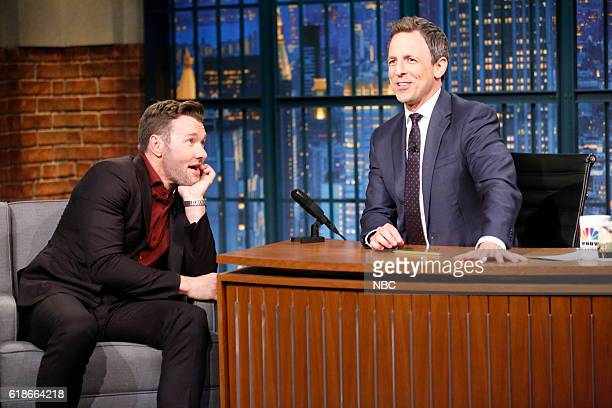 Actor Joel Edgerton during an interview with host Seth Meyers on October 27 2016