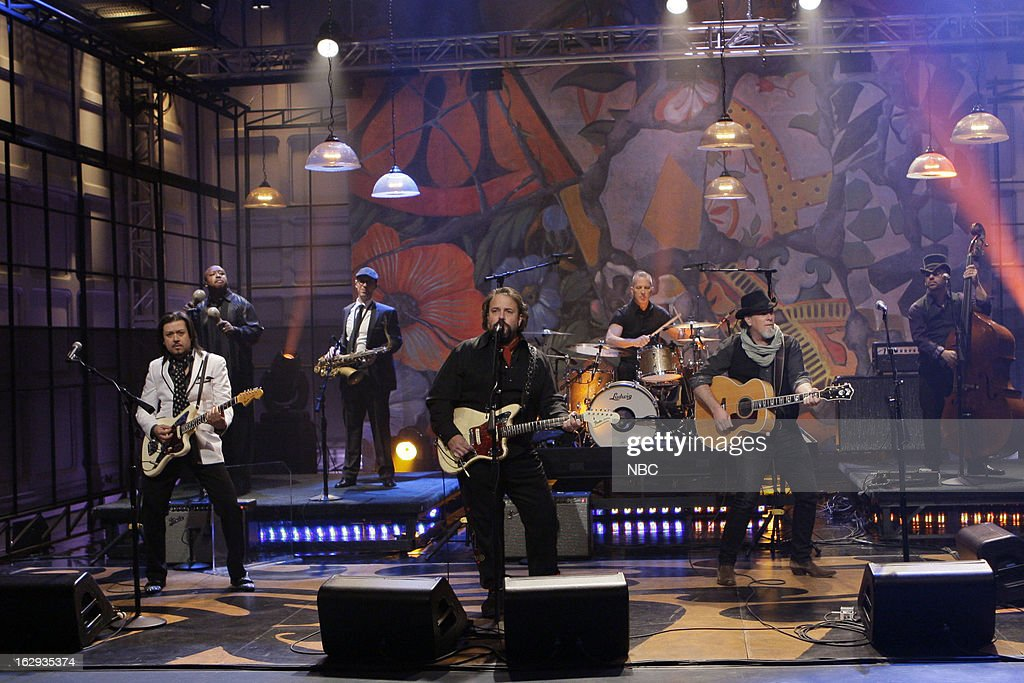 Musical guests The Mavericks perform on March 1, 2013 --