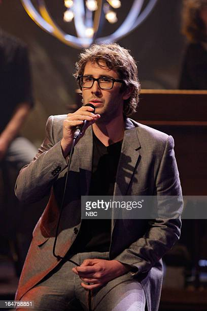 Musical guest Josh Groban performs on March 27 2013