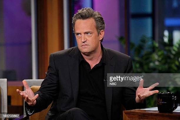 Actor Matthew Perry during an interview on April 1 2013