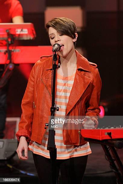 Sara Quin of Tegan and Sara performs on April 11 2013