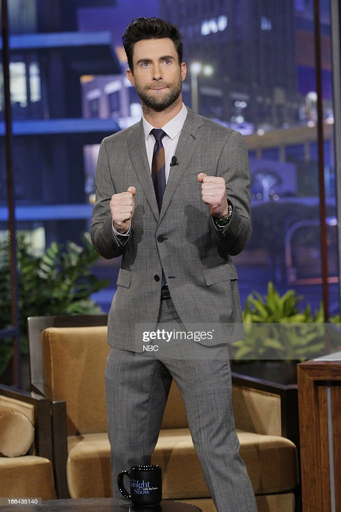 Adam Levine arrives on April 12, 2013 --
