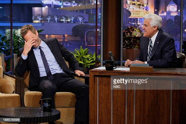 Actor Aaron Eckhart during an interview with host Jay Leno on May 10 2013