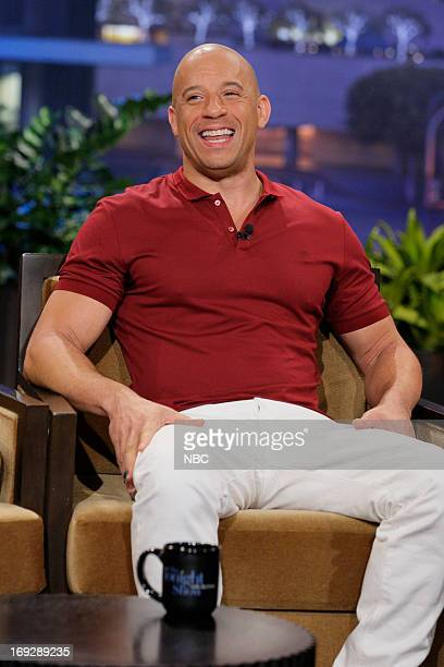 Actor Vin Diesel during an interview with host Jay Leno on May 22 2013