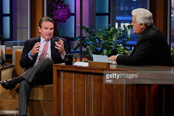 Tennis star Jimmy Connors during an interview with host Jay Leno on June 11 2013