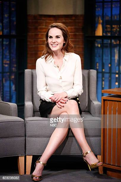 Actress Michelle Dockery during an interview on November 14 2016
