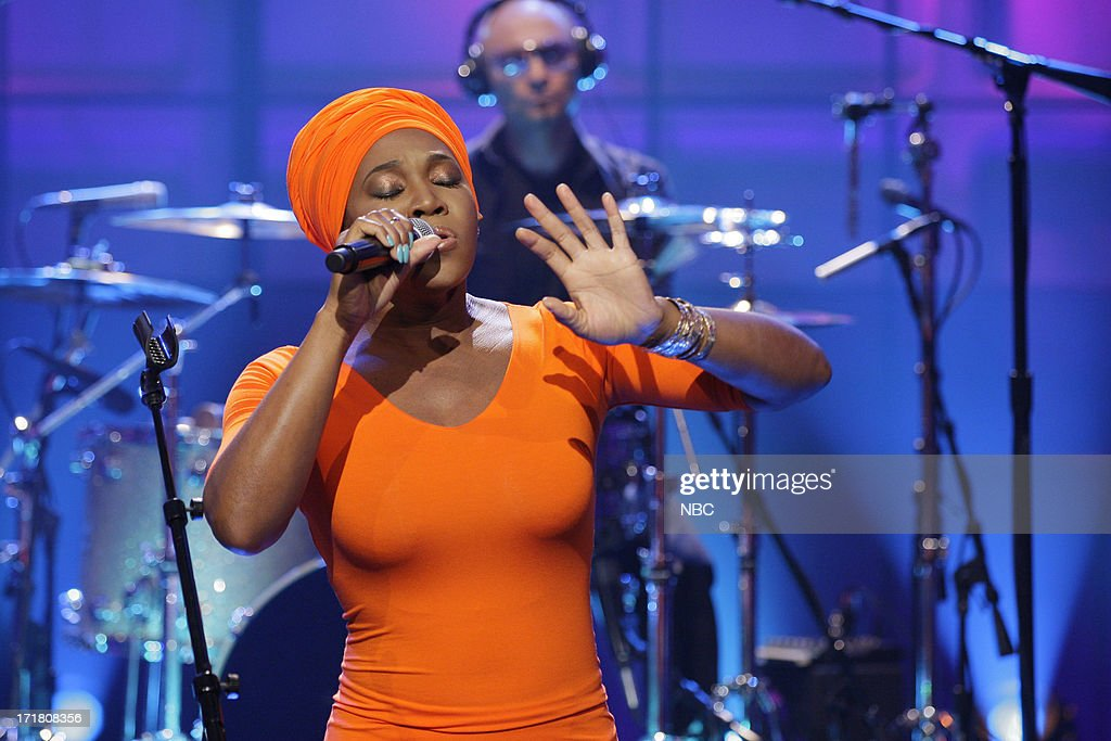 Musical guest India.Arie on June 28, 2013 --