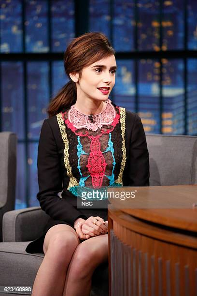 Actress Lily Collins during an interview on November 15 2016