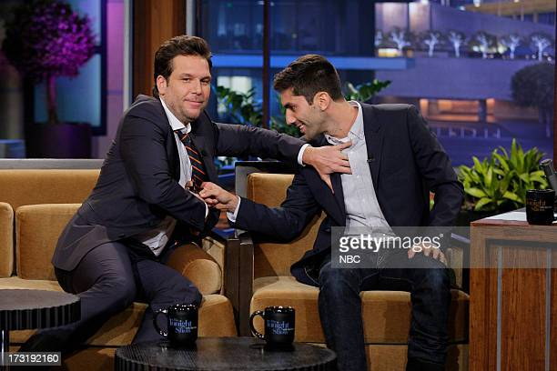 Comedian Dane Cook Producer Yaniv Nev Schulman during an interview on July 9 2013