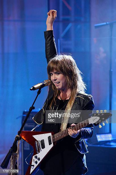 Musical guest Serena Ryder performs on July 17 2013