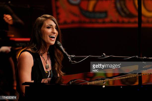 Musical guest Sara Bareilles performs on July 19 2013