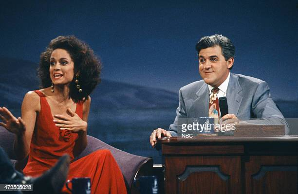 Actress AnneMarie Johnson during an interview with host Jay Leno on July 24 1992