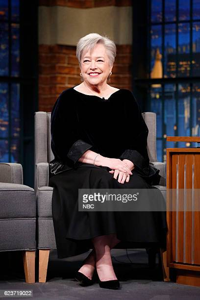 Actress Kathy Bates during an interview on November 16 2016