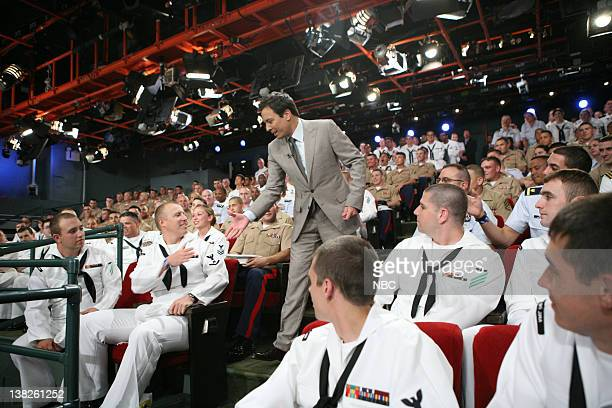 Fleet Week Jimmy Fallon shakes hands with Navy and Marine Service men and women on May 27 2011