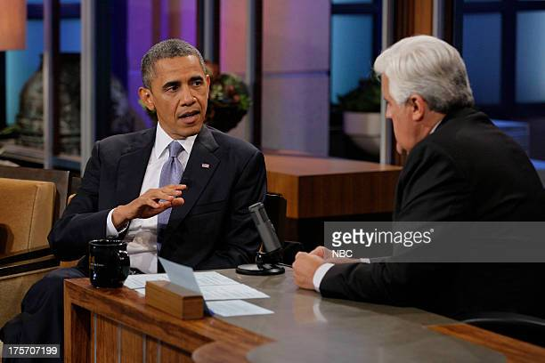 President Barack Obama during an interview with host Jay Leno on August 6 2013