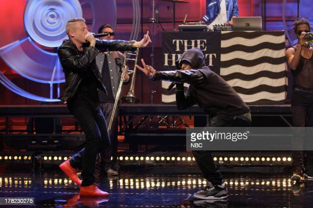 Episode 4517 -- Pictured: Musical guest Macklemore performs on August 27, 2013 --