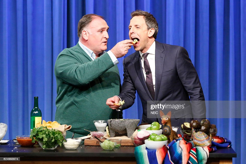 """NBC's """"Late Night With Seth Meyers"""" With Guests Kathy Griffin, Dev Patel, Jose Andres"""