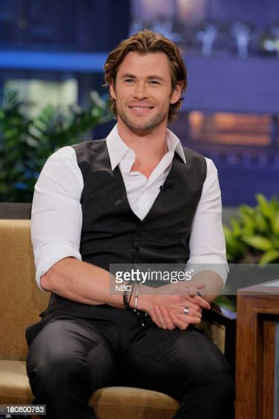 Actor Chris Hemsworth during an interview on September 16 2013