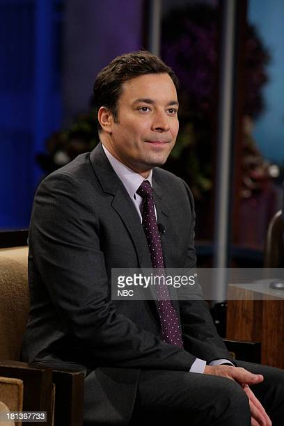 LENO Episode 4533 Pictured Jimmy Fallon during a commerical break on September 20 2013