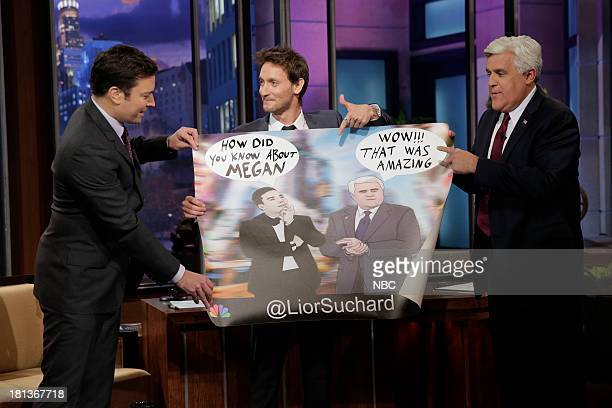 Jimmy Fallon mentalist Lior Suchard and host Jay Leno on September 20 2013