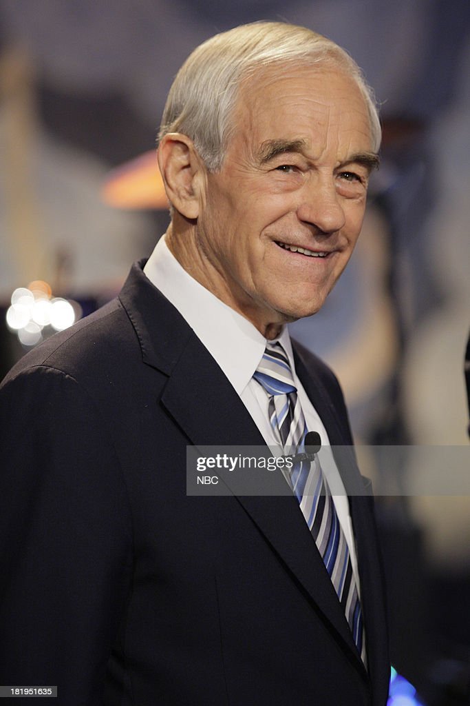 Politician Ron Paul onstage September 26, 2013 --