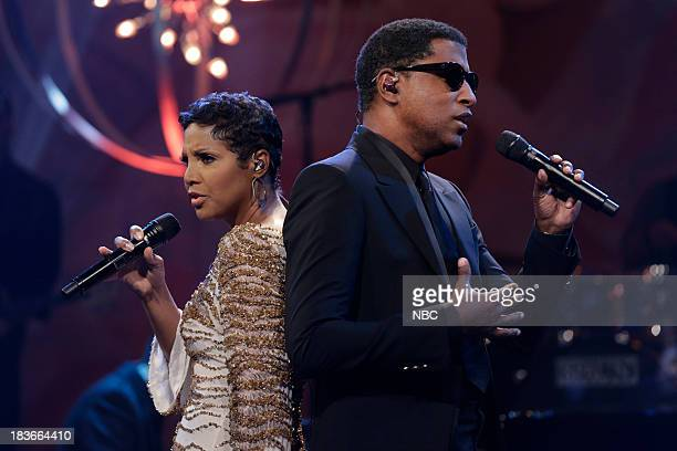 Musical guest Toni Braxton and Babyface perform on October 8 2013