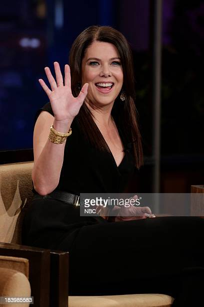 LENO Episode 4547 Pictured Actress Lauren Graham during a commercial break on October 10 2013