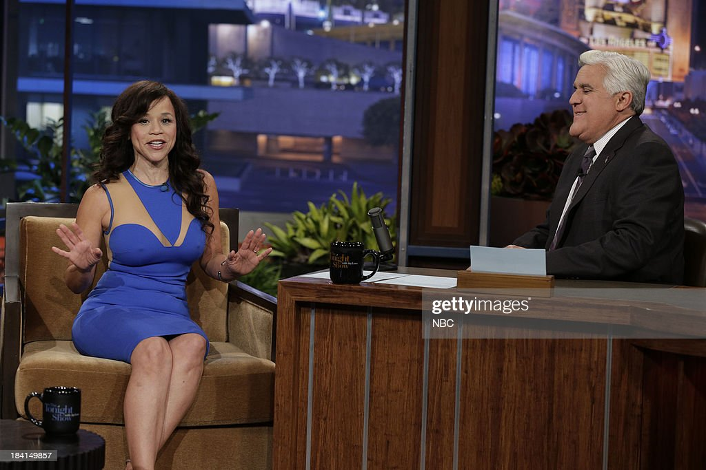Actress Rosie Perez during an interview with host Jay Leno on October 11, 2013 --