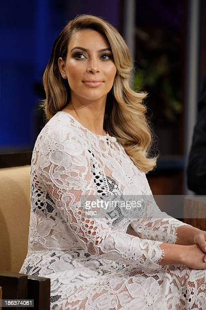 LENO Episode 4556 Pictured Kim Kardashian during a commercial brea on October 30 2013