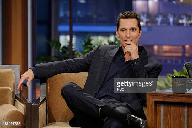 Actor Matthew McConaughey during an interview on October 31 2013