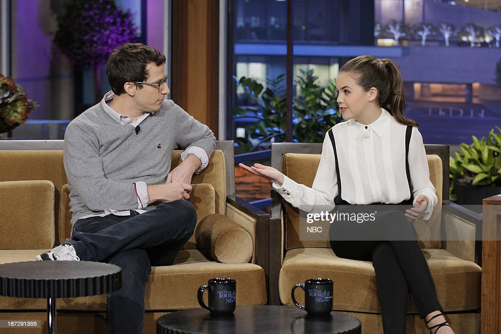 Actor Andy Samberg, actress Bailee Madison during an interview on November 7, 2013 --