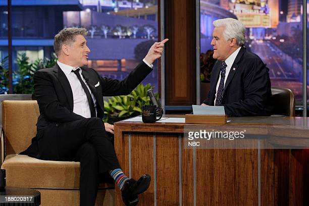 Talk show host Craig Ferguson during an interview with host Jay Leno on November 14 2013