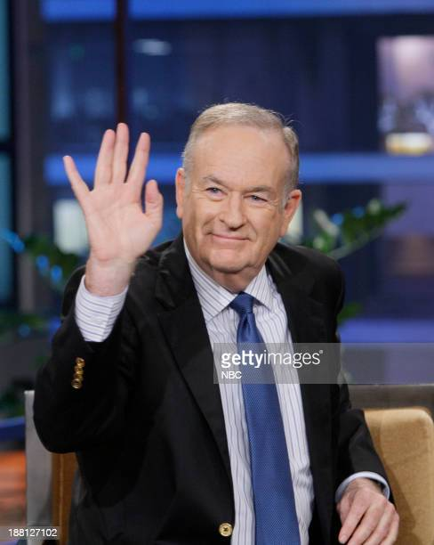 Talk show host Bill O'Reilly during an interview on November 18 2013