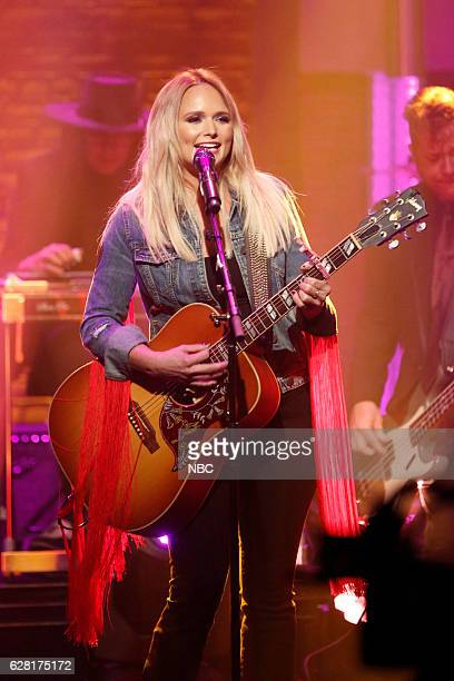 Musical guest Miranda Lambert performs on December 6 2016
