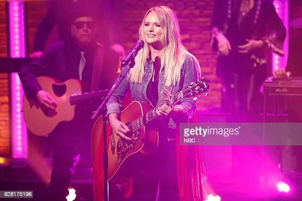Musical guest Miranda Lambert performs on December 6 2016