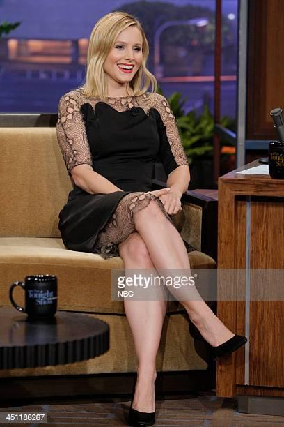 Actress Kristen Bell during an interview on November 21 2013