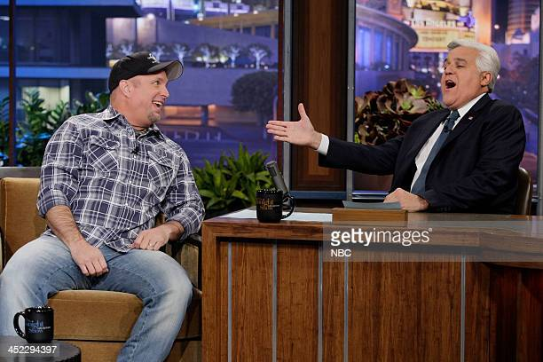 Country singer Garth Brooks during an interview with host Jay Leno on November 27 2013