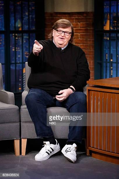 Filmmaker Michael Moore during an interview on December 7 2016