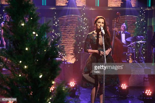 Musical guests Kacey Musgraves performs on December 7 2016