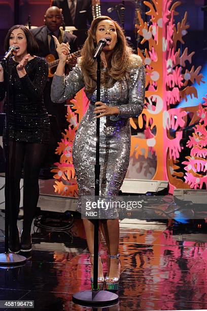 Musical guest Leona Lewis performs on December 20 2013
