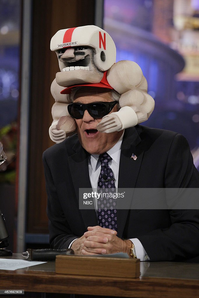 Host Jay Leno during an interview on January 14, 2014 --