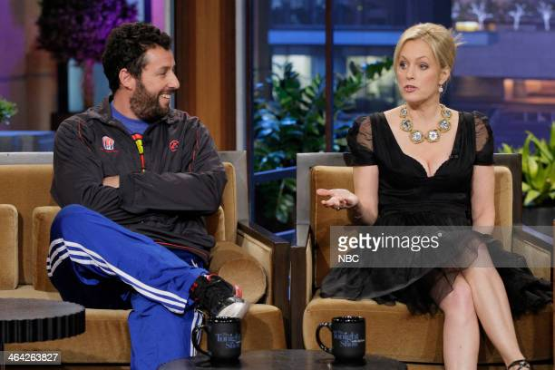 Comedians Adam Sandler and Ali Wentworth during an interview on January 21 2014